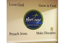 Wall graphics created inspiration at the Heritage Baptist Church in Chesterfield, VA